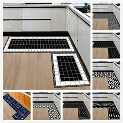 Modern Geometric <font><b>Kitchen</b></font> Mat Anti-Slip B