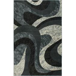 Modern Gray Abstract Pattern Rug Area Rug Transitional Home