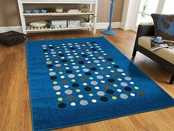 Modern Large 8x11 Rug Blue Dots Rugs Clearance 8x10 Contempo