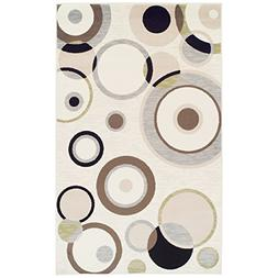 Superior Modern Ringoes Collection Area Rug, 8mm Pile Height