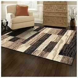 Superior Modern Rockwood Collection Area Rug, 8mm Pile 3' x