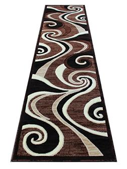 Americana Modern Runner Rug #144 Brown