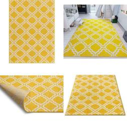Modern Rug Calipso Yellow 7'10''X10'6'' Lattice Trellis Acce