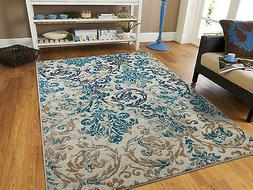 Modern Rugs Blue Gray Area Rug 8x10 Living Room Carpet 5x8 C