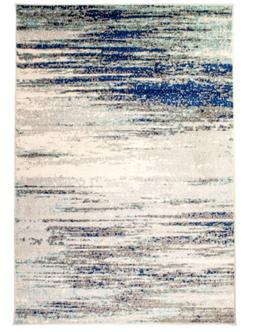 Modern Traditional Vintage Distressed Area Rug in Gray, 8' x