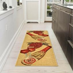 Modern Wine Hall Runner Rug Pad Long Rugs Hallway Area Carpe