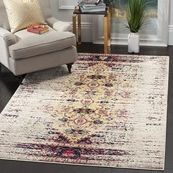 Safavieh Monaco Collection MNC209R Modern Abstract Ivory and