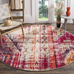Safavieh Monaco Collection MNC222D Modern Bohemian Magenta P