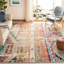 Safavieh Monaco Collection MNC222F Modern Bohemian Distresse