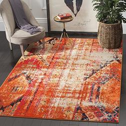 Safavieh Monaco Collection MNC222H Modern Bohemian Orange Di