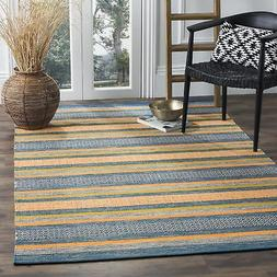 Safavieh Montauk Collection MTK213A Blue and Orange Area Rug