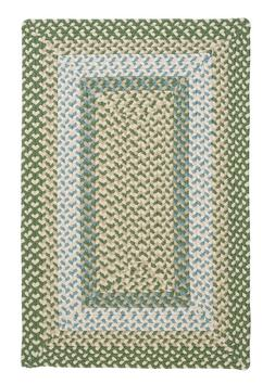 Montego Lily Pad Green Braided Area Rug/Runner. Many Sizes.