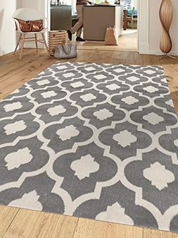 Rugshop Moroccan Trellis Contemporary Indoor Area Rug, 5'3""