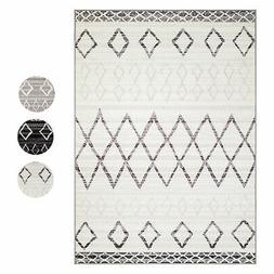 Moroccan Vintage Tribal Modern Contemporary Area Rug w/ Non-