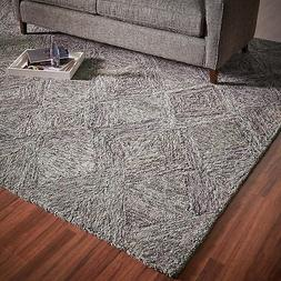 "Rivet Motion Patterned Wool Area Rug, 8' x 10'6"", Ivory Heat"