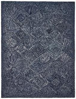 motion patterned wool area rug
