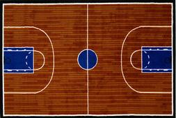 Multi-Color Basketball Court Arena Hard Top Contemporary Are
