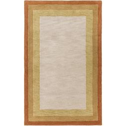 Surya Mystique M-5414 Hand Loomed Wool Solids and Borders Ar