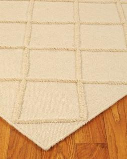 Natural Area Rugs Clearance  Beige Wool Area Rug 8' x 10'