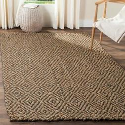 Safavieh Natural Fiber Jute NATURAL / GREY Area Rugs - NF181