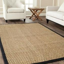 Safavieh Natural Fiber Seagrass NATURAL / BLACK Area Rugs -