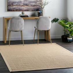 nuLOOM Natural Sisal Contemporary Modern Bordered Area Rug i