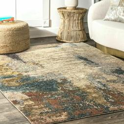 nuLOOM NEW Contemporary Modern Abstract Area Rug in Beige, B