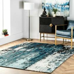 nuLOOM NEW Contemporary Modern Abstract Area Rug in Blue, Gr