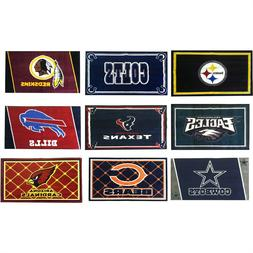 nEw NFL FOOTBALL TEAM AREA RUG - Sports Logo Accent Decor Ca