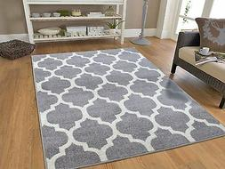 New Gray Rugs Moroccan Trellis Area Rugs Grey Carpet 5 x 7 G