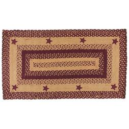 *NEW* IHF Star Wine Braided Jute Rugs Seat Covers & Runner B