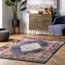 nuLOOM NEW Traditional Distressed Medallion Oriental Area Ru