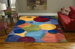 Momeni New Wave 37 Multi Area Rug Modern Contemporary Wool A