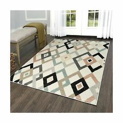 Home Dynamix New Weave Allyson Area Rug, 5x7, Ivory-Coral