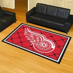 FANMATS NHL Detroit Red Wings Nylon Face 5X8 Plush Rug