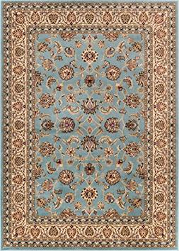 Noble Sarouk Light Blue Persian Floral Oriental Formal Tradi