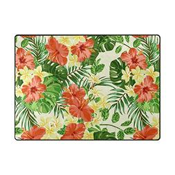 ABLINK Non-slip Area Rugs Home Decor, Vintage Tropical Hawai
