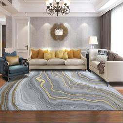 AOVOLL Nordic Modern Abstract Gray Gold Curve Pattern Crysta