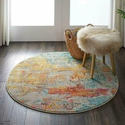 Nourison Celestial Modern Abstract Area Rug, 4' x ROUND , Se
