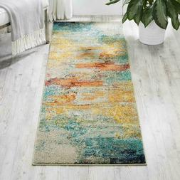 "Nourison Celestial Modern Abstract Area Rug Runner, 2'2"" x 7"