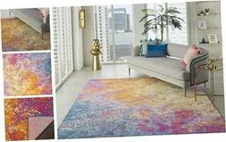 Passion Modern Abstract Colorful Area Rug, 8' 8 x 10 Feet Re