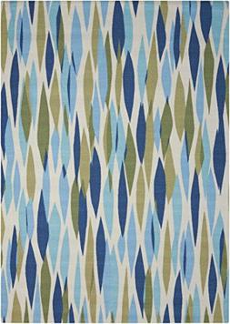 Nourison Sun and Shade Bits and Pieces Area Rug Blue/Navy /
