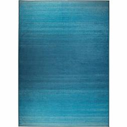 RUGGABLE Ombre Blue Washable Stain Resistant 5' x 7' Area Ru