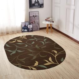Ottomanson Ottohome Collection Contemporary Leaves Design No
