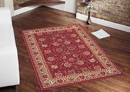 ottohome collection dark red traditional