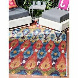 outdoor ikat rug 4 x 6