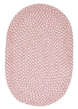 Confetti Oval Area Rug, 5 by 8-Feet, Pink