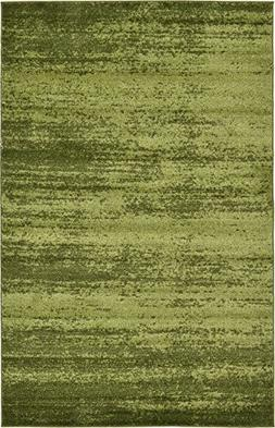 Over-dyed Modern Vintage Rugs Green 5' x 8' FT Palma Collect