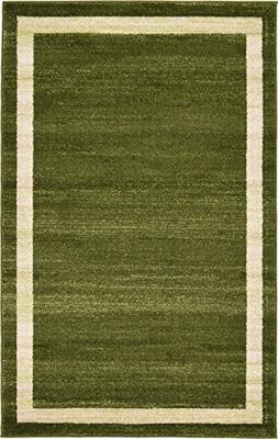 Over-dyed Modern Vintage Rugs Green 3' 3 x 5' 3 FT Palma Col