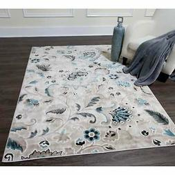 Home Dynamix Oxford Collection Floral Round Area Rug